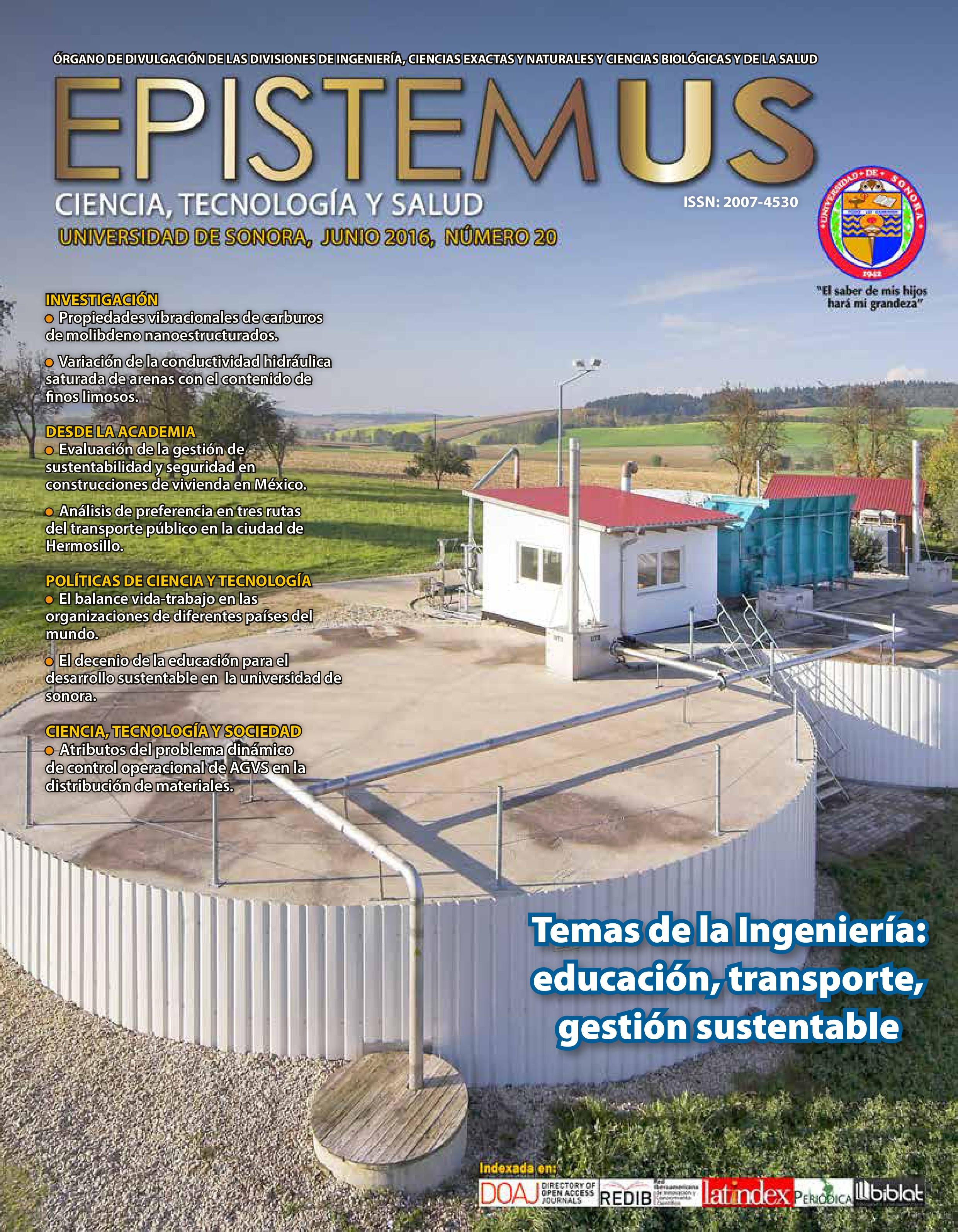 Ver Vol. 10 Núm. 20 (2016): Temas de la Ingeniería: educación, transporte, gestión sustentable